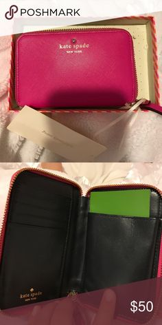 Kate Spade Wallet Kate Spade pink wallet new with tags and box with strap kate spade Bags Wallets