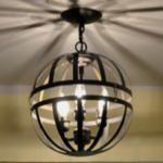 Love this DIY light fixture
