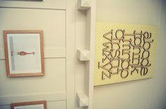 Wooden Alphabet Wall Art - #nurserydecor