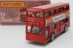 Matchbox/Lesney 17f; The Londoner Daimler Bus; Berger Paints, Good In L Type Box - http://www.matchbox-lesney.com/?p=9298