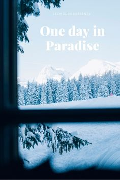 One day in Paradise - Lech Zürs One Day, Paradise, Presents, Nature, Travel, Best Ski Resorts, First Day Of Winter, Winter Scenery, Explore