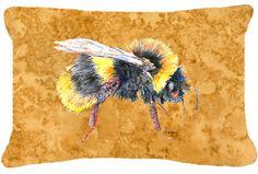 Bee Indoor/Outdoor Throw Pillow