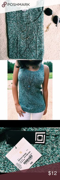 Knit Top | Liz Claiborne WITH TAG Brand new knit teal blue top! Perfect for the fall season! ✨ Liz Claiborne Tops Tank Tops