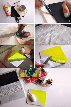 DIY neon mousepad: So simple but so chic! #brit
