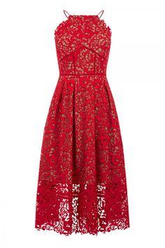 Warehouse Lace Halter Dress, £165