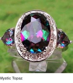 ☆ Mystic Topaz ☆ I would love a parure in this! Gems Jewelry, I Love Jewelry, Jewelry Box, Jewelry Accessories, Jewlery, Topaz Earrings, Amethyst Jewelry, Bling Jewelry, Beautiful Wedding Rings