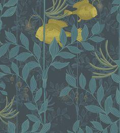 Behang Cole and Son Nautilus Collectie: Whimsical collectie Design name: Nautilus behang Kleur: dark blue (blauw, geel) Rolbreedte (cm): 52 cm Rollengte: 10 meter Patroonherhaling (cm): 64 cm O...