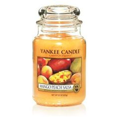 mango peach salsa by yankee candle. Got this one as a gift- great fun scent for summer! Love it!