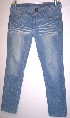 Ariya Jeans 13 / 14 Sexy Slim Stretch Acid Wash Denim Pants Waist 36 Inseam 31 #AriyaJeans #SlimSkinny