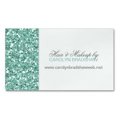 Glitter Look Mint Business Card. This is a fully customizable business card and available on several paper types for your needs. You can upload your own image or use the image as is. Just click this template to get started!