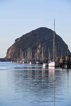 Morro Bay, California with Morro Rock in the background