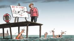 Germany's obstinate chancellor: Angela Merkel, swimming instructor | The Economist