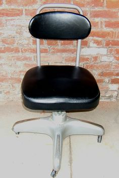 Retro Vintage 40s 50s Office Stenographer Chair Industrial, Factory Cole Steel | eBay
