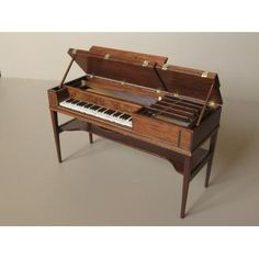 piano by Beith Miniatures: Fine quality 1/12th scale period furniture incorporating inlay and marquetry.