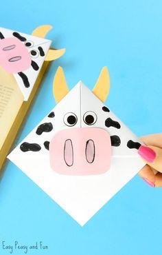 Cow Corner Bookmarks Craft for Kids