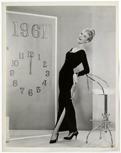 1960 Yvette Mimieux Vintage New Year's Eve by GrapefruitMoonFinds