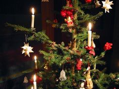 Christmas Tree Clips with Live Candles - Christmas in Norway. Roger Engvik www.christmasgiftsfromgermany.com