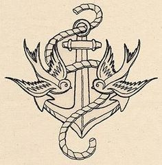Thread Tattoos - Anchor and Swallows_image urban thread