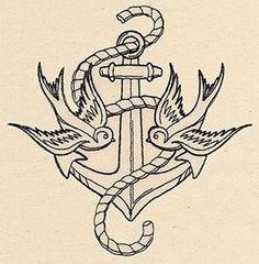 Thread Tattoos - Anchor and Swallows_image urban thread