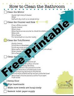 How to Teach Kids to Clean a Bathroom + Bathroom Cleaning Checklist Printable Bathroom Cleaning Checklist, Cleaning Checklist Printable, Toilet Cleaning, Cleaning Wipes, Cleaning Schedules, Cleaning Supplies, Teen Bathrooms, Bathroom Kids, Bathroom Modern