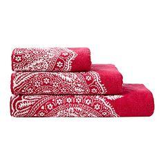 Harlequin Pink paisley bordered towel- at Debenhams.com