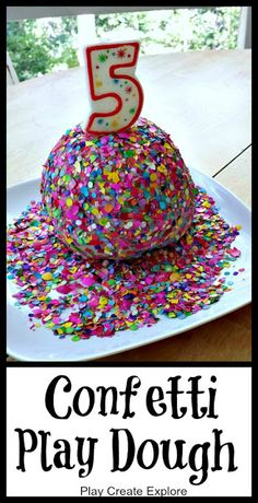 Confetti Play Dough. Made this for a birthday gift and scented it with Birthday Cake fragrance oil..smelled amazing!