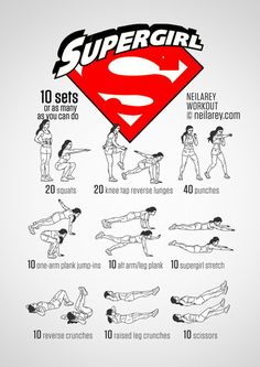 Train Like a Superhero | Neila Rey ~ Supergirl workout