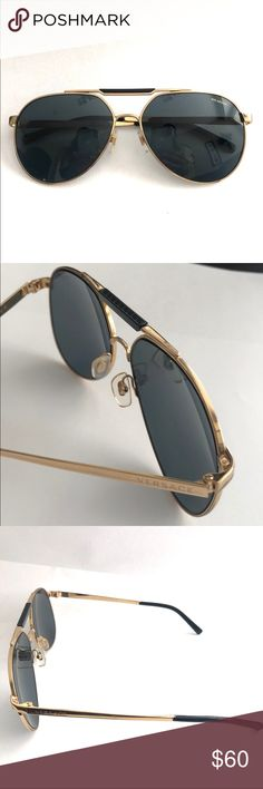 cbd95ac6ce09 Versace Gold Frame Aviator Sunglasses These are authentic Versace polarized  sunglasses that come in a gold