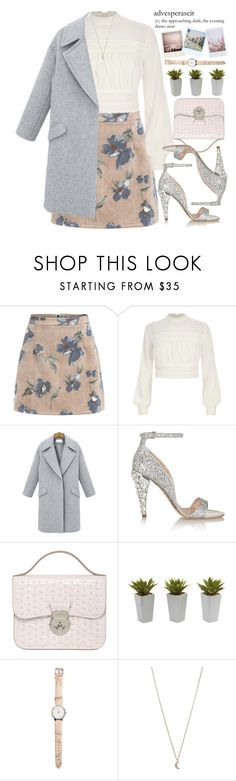 """Advesperascit"" by mihreta-m ❤ liked on Polyvore featuring River Island, Miu Miu, Azzurra Gronchi, Nearly Natural and Minor Obsessions"