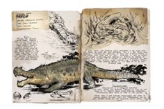 Dino Dossiers - Official ARK: Survival Evolved Wiki Fantasy Creatures, Mythical Creatures, Ark Survival Evolved Tips, The Lost World, Prehistoric Creatures, Creature Design, Sketches, Drawings, Gabriel