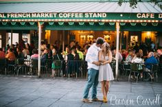 Cafe du Monde | Lauren Carroll Photography | laurencarrollphotography.com | New Orleans, French Quarter shoot, French Quarter photos, NOLA, Nola photos, St. Louis Cathedral, New Orleans weddings, New Orleans photography, Pirate's Alley, Jax Brewery, New Orleans engagement session