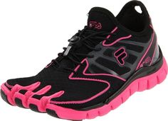 fila+skeletoes+women   Details about Fila Skele-Toes AMP Womens Running Shoe Black / Hot Pink ...