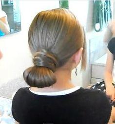 Hair-Crossed Bun | Updo Hairstyles