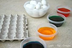 Tips for Dyeing Easter Eggs with Toddlers ~ Learn Play Imagine