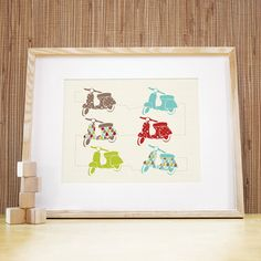 Nursery Art. 11x14 Vespa Love Print