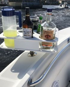 Docktail Bar l Boat Tables l Boat Bars I Cup Holders l Floating Bars Boat Cup Holders, Bottle Holders, Kayak Fishing, Fishing Boats, Saltwater Fishing, Pontoon Boat Accessories, Boating Accessories, Boat Table, Sailboat Interior