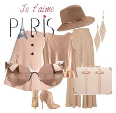 """pink and beige"" by chacharito ❤ liked on Polyvore featuring Roksanda, The Row, Steve Madden, Tiffany & Co., Globe-Trotter, Eugenia Kim and Linda Farrow"