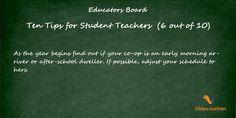 Student teacher tips (tip 6)