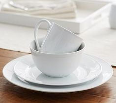 Great White Traditional Dinnerware #potterybarn porcelain 16 pieces $96