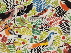 birds print, collier campbell