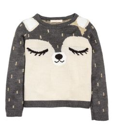 Knitted jumper: Jumper in a soft, fine knit containing glittery threads with ribbing at the cuffs and hem. Bookmarks Kids, Barbie, H&m Online, Baby Prints, Matching Outfits, Fashion Kids, Pulls, Baby Knitting, Winter Outfits