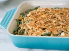 Get Fresh Green Bean Casserole Recipe from Food Network TY Vegetable Side Dishes, Vegetable Recipes, Fresh Green Bean Casserole, Greenbean Casserole Recipe, Vegtable Casserole Recipes, Whole Foods Market, Side Dish Recipes, Yummy Recipes, Recipies