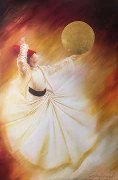 GulCan Karadag-Whiriling Dervish-Oil on cm Tree Watercolor Painting, Flower Painting Canvas, Oil Painting Abstract, Texture Painting, Figure Painting, Dance Paintings, Oil Paintings, Islamic Paintings, Turkish Art