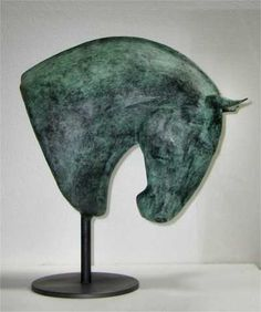 Bronze and steel Busts and Heads sculpture by artist Isabelle Faucher titled: 'Aragao (Young Stallion Horse Head sculpture)' £5834 #sculpture #art