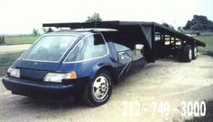 Unusual race car haulers, Citroens and an AMC Pacer Mini Trucks, Cool Trucks, Cool Cars, Gmc Motorhome, American Motors, Weird Cars, First Car, Custom Cars, Custom Trucks
