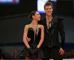 Silver medallists Ilinykh and Katsalapov of Russia pose during the Ice Dance medals ceremony at the ISU European Figure Skating Championship...