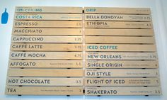 Blue Bottle Coffee W.C. Morse café menu | Flickr - Photo Sharing!