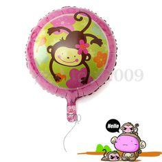 Folienballons-Luftballon-Heliumballon-Affe-Kinder-Ballon-Party-Geburtstag-Deko