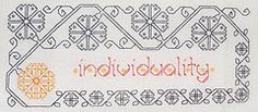"""Individuality"", from Practical Blackwork (Liadain) Tags: pattern sampler needlework embroidery blackwork"