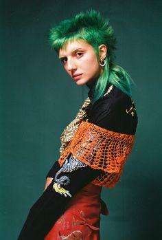 """Photography and styling duo, Erika Bowes & Yuki Haze, combine their strength in film photography and vintage styling for """"A Modern Error"""" for Teeth Online. Chicas Punk Rock, Erika Bowes, Pretty People, Beautiful People, Queer Fashion, 80s Punk Fashion, Lolita Fashion, Fashion Boots, Style Fashion"""